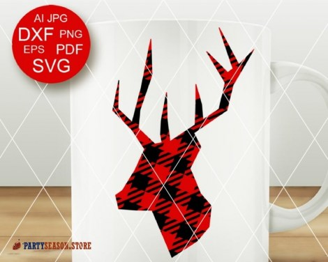Deer Plaid svg Party Season 2