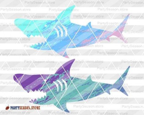 Ombre shark party season store 3