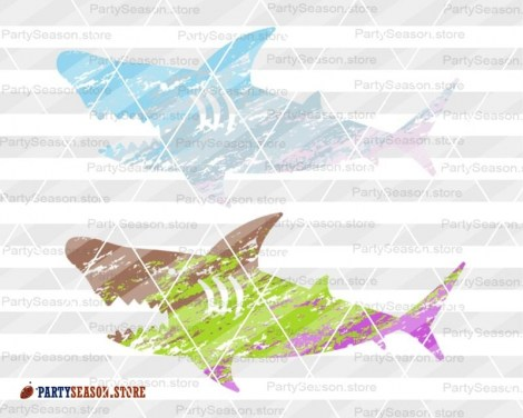 Shark  Ombre Grunge party season store 2