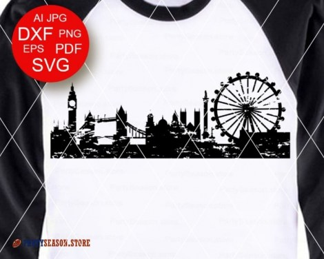 London Skyline Grunge Party season store 3