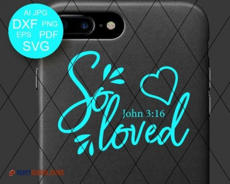 So Loved SVG Bible verse svg Party season Store 3