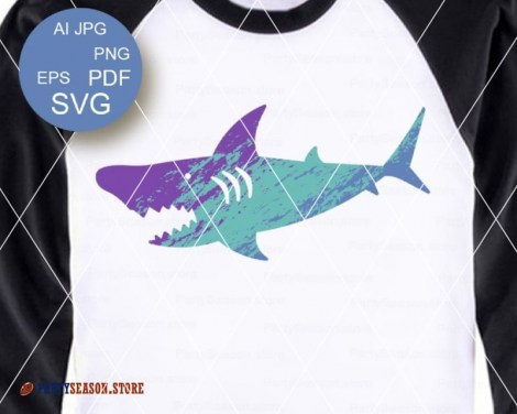 Ombre shark party season store 2