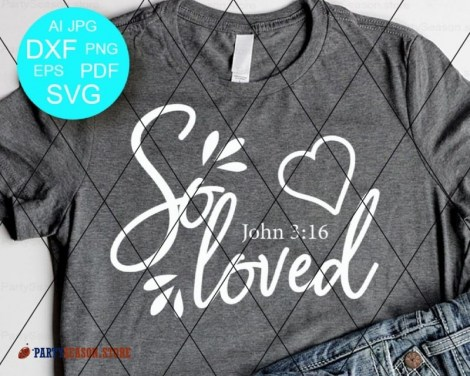 So Loved SVG Bible verse svg Party season Store 2