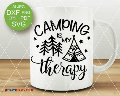camping is my therapy tent Party season 1