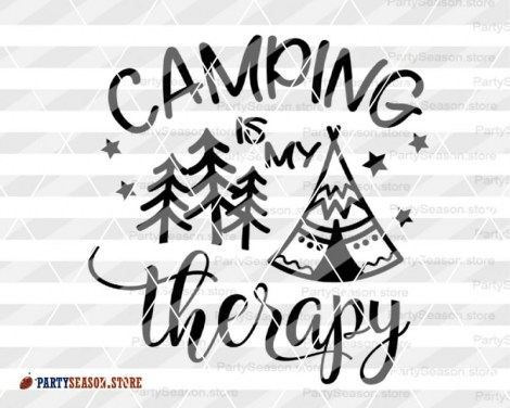 camping is my therapy tent Party season 3