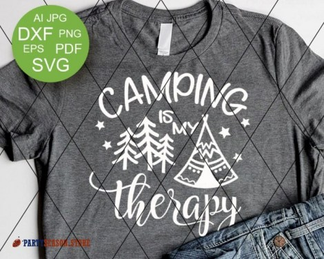 camping is my therapy tent Party season 2