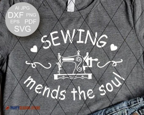 Sewing mends the soul SVG Party season Store 2