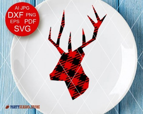 Deer Plaid svg Party Season 3
