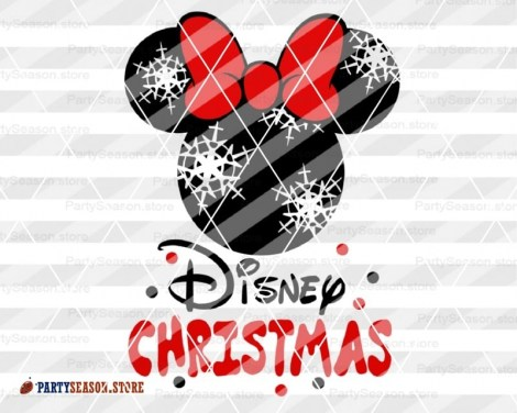 Disney Christmas svg Minnie Party Season 4