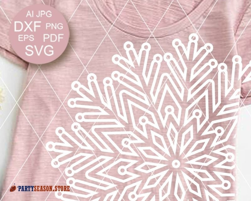 Mandala Snowflake Party Season store