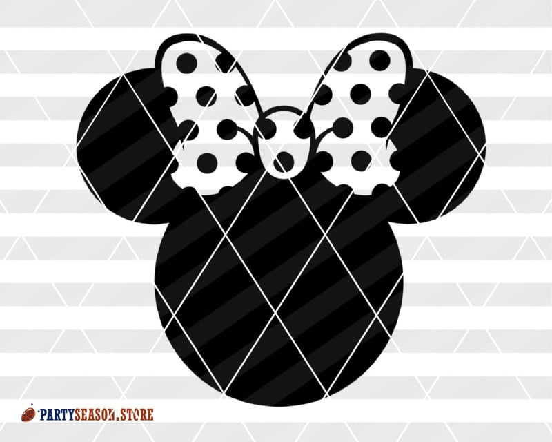 party season store Minnie Head BLACK