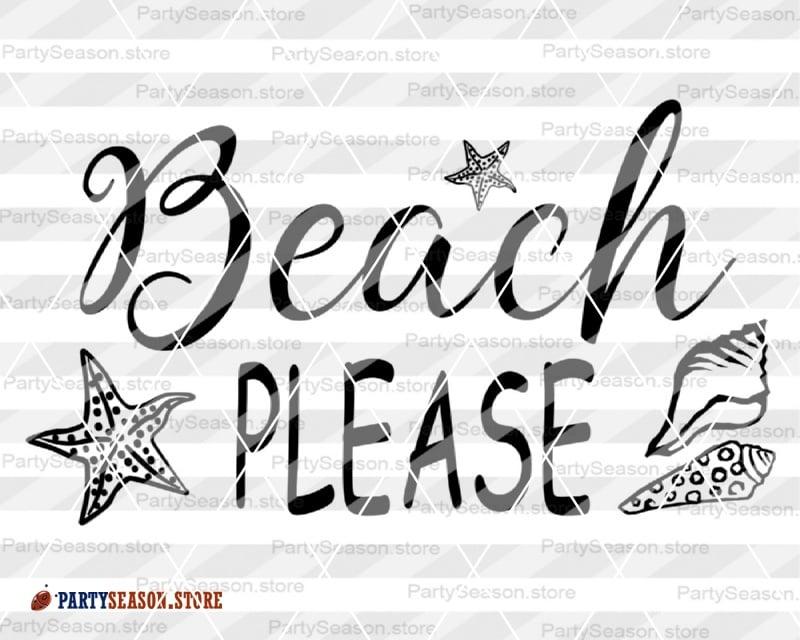 Beach Please Svg
