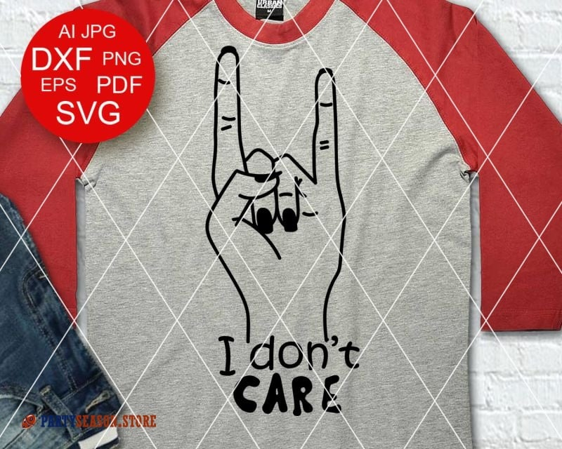 i dont care Svg Party Season