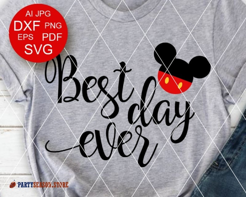PartySeason Store best day ever Mickey 1