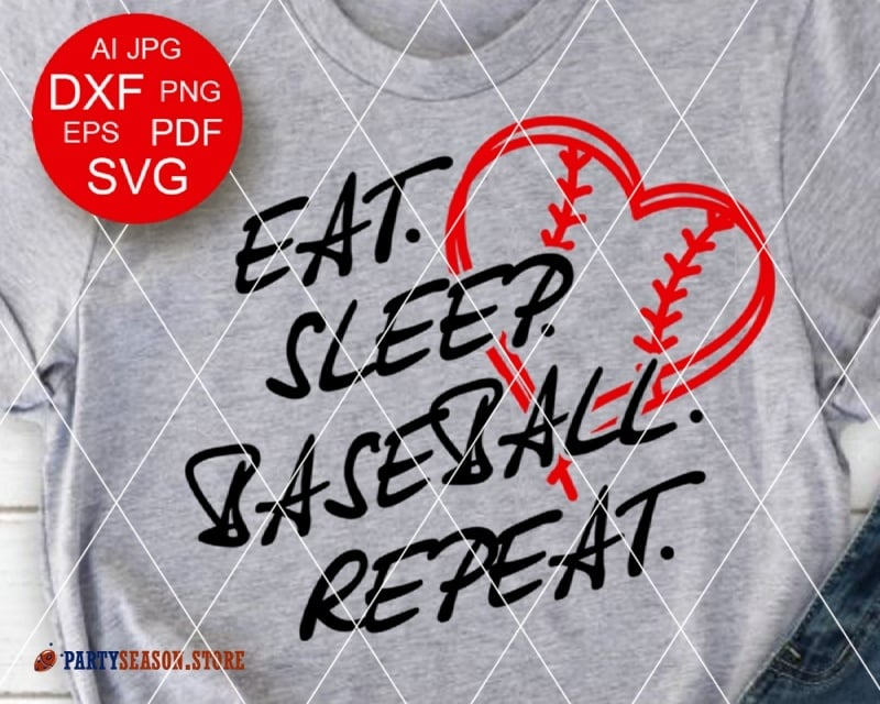 Eat Sleep Baseball Repeat party season