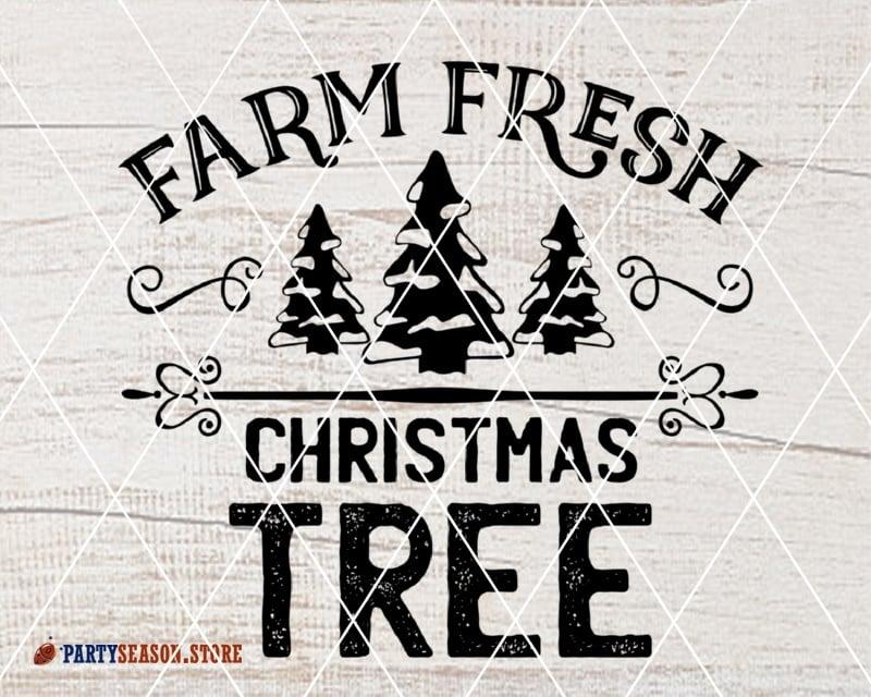Fresh Christmas Trees Svg.Farm Fresh Christmas Tree Svg Farm Svg Farmhouse Svg Xmas Tree Clipart Farm Fresh Svg Farmer Svg Files Sayings Farm Life Svg File For Cricut