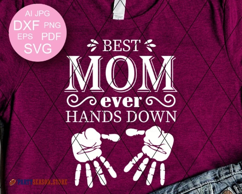 Best Mom Ever Hands party season store