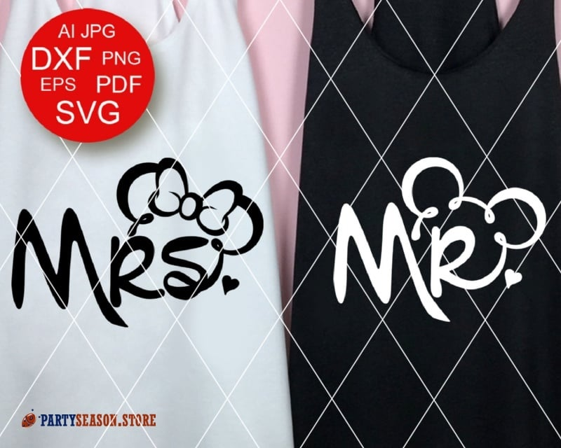 PartySeason Store Mr Mrs shirts 1