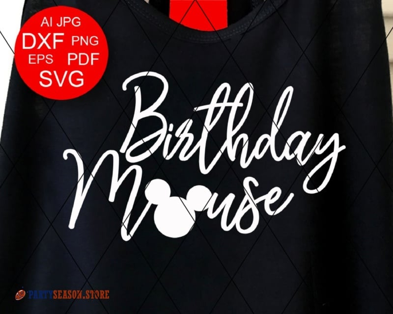 Birthday Mouse Svg